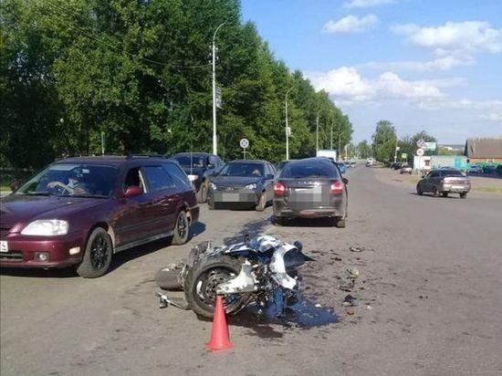 В Башкирии мотоциклист попал в больницу по вине 61-летнего водителя «Лады»