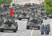 На Красной площади прошла первая репетиция юбилейного парада Победы