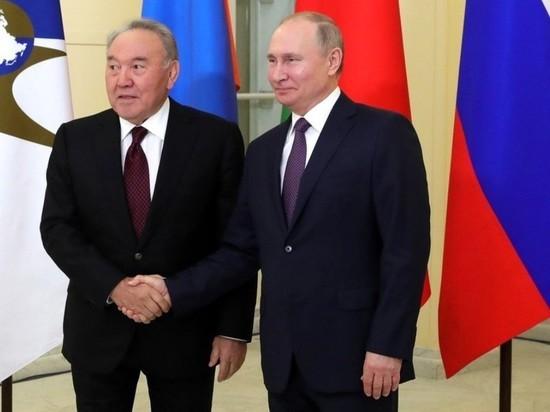 Путин пожелал Назарбаеву скорее выздороветь от коронавируса