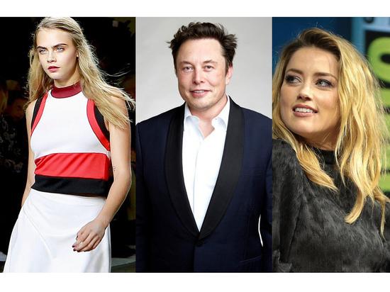 Илон Маск опроверг секс втроем с Карой Делевинь и Эмбер Херд