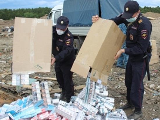 В Свердловской области уничтожили 15 тысяч пачек сигарет