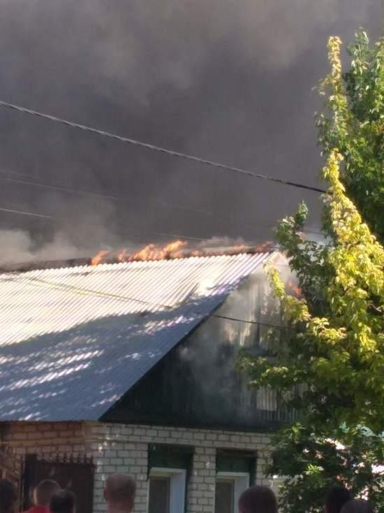 В Бузулуке на улице Казанская  произошел страшный пожар, есть пострадавший