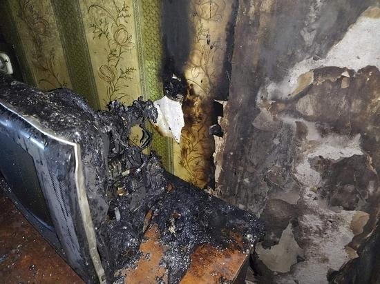 Благодаря соседям смолянин отделался только сгоревшим телевизором