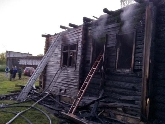 В Карелии во время ночного пожара погиб человек
