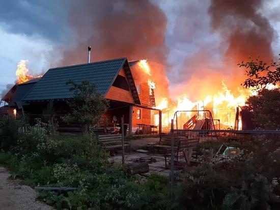 Стали известны детали о пожаре в конюшне в Заокском районе