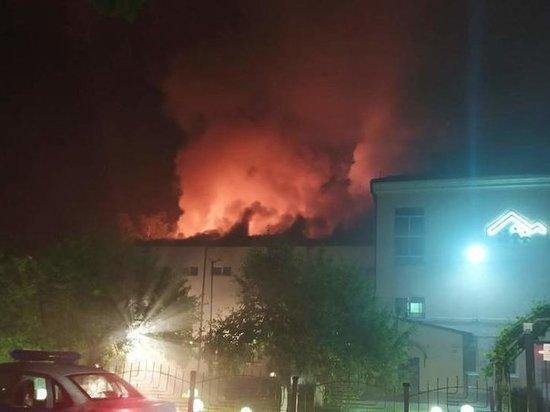 Детский дом горит под Калининградом