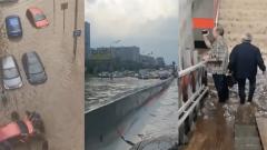 Москву затопило ливнем: дороги превратились в реки, автомобили утонули