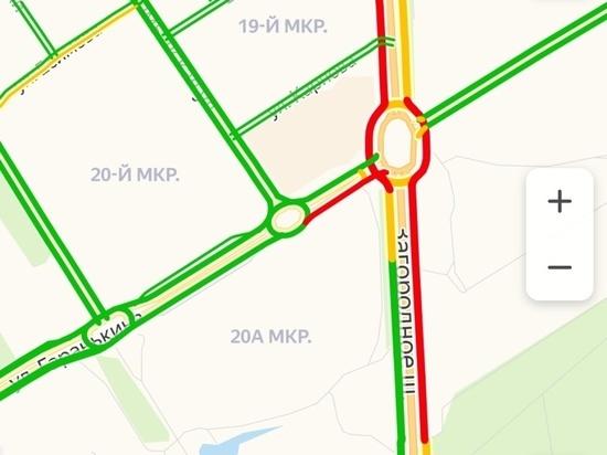 На объездной дороге в Оренбурге пробка увеличилась