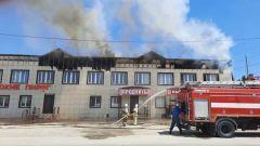 В Афипском загорелся чердак офисного здания на площади в 600 квадратных метров
