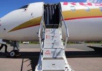 Первый рейс из Калининграда в псковском аэропорту встретили водяными воротами