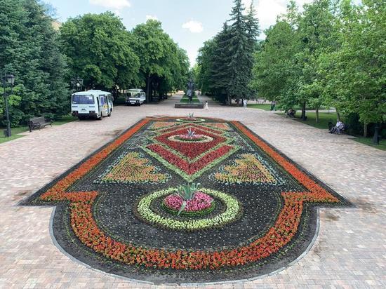 Крупнейший в крае цветник украсит Парад Победы в Ставрополе