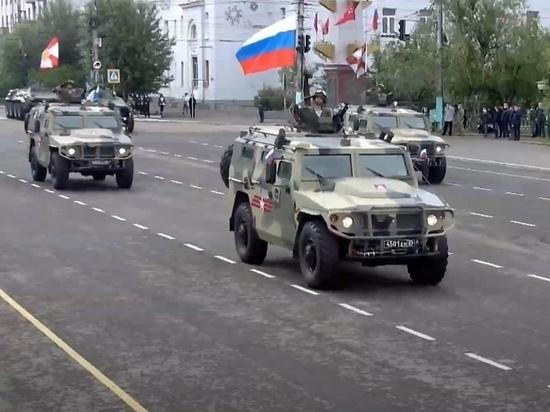 Новейшая военная техника прошла в параде Победы в Чите