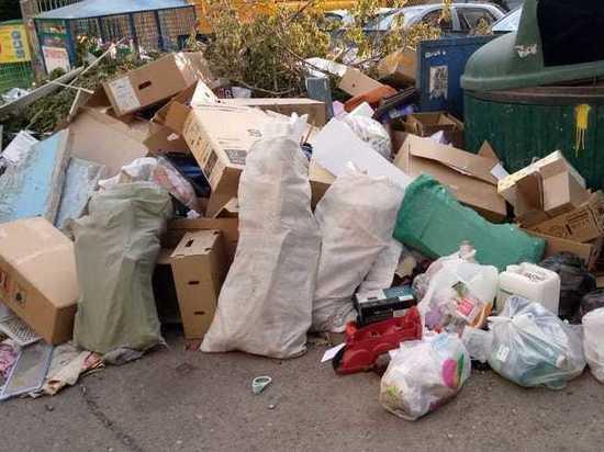 В оренбургских дворах копится мусор