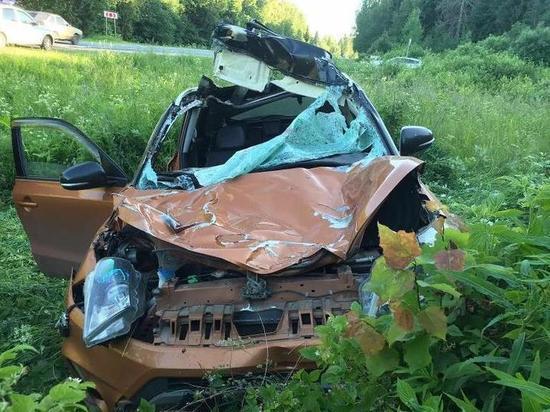Машина в утиль, водитель с пассажиром в больнице: в Ярославской области произошло ДТП с лосем