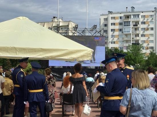 В Евпатории Парад Победы смотрели на большом экране