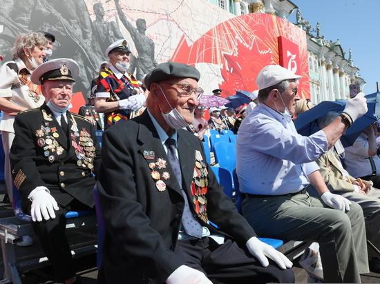 Парад Победы на Дворцовой площади посетили 168 ветеранов