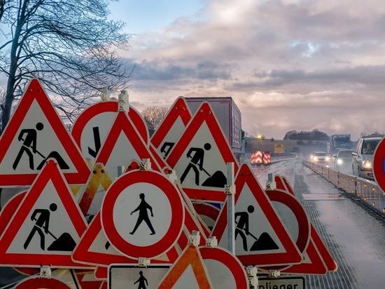 В Брянске на подъезде к Литейному мосту забраковали новый асфальт