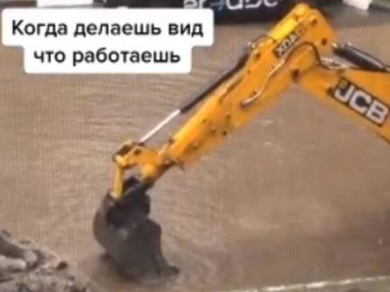 В Брянске экскаваторщик стал звездой TikTok