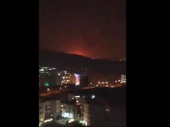 Названа возможная причина вспышки в пригороде Тегерана