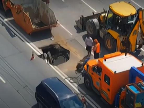 Стали известны причины провала почвы на Хорошевском шоссе