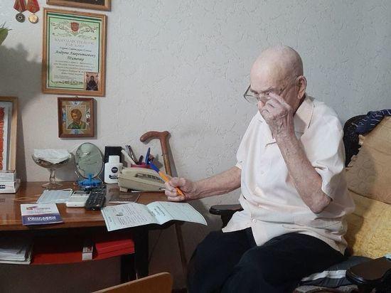 На Ставрополье по поправкам в Конституцию проголосовал Герой Советского Союза