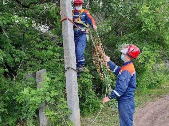 В шести районах Марий Эл после грозы восстановили электроснабжение