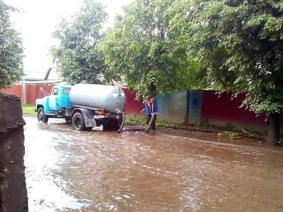 В Серпухове устранили последствия ливня и дождя
