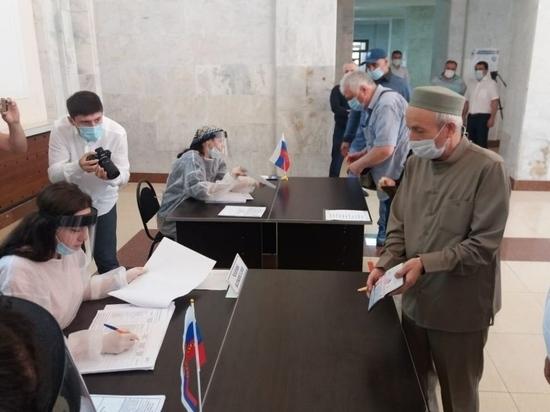 Духовный лидер мусульман республики проголосовал на одном из избирательных участков Махачкалы