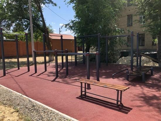 В калмыцкой столице открыта еще одна спортплощадка