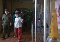 Антиковидный мобильный госпиталь развернут военнослужащими в Кызыле, республика Тыва