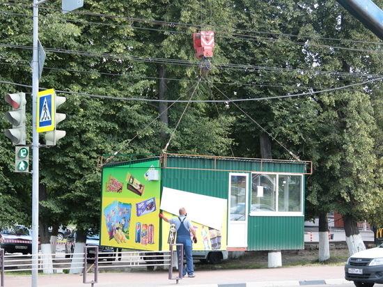 В Брянске убрали с улиц два самовольно установленных киоска
