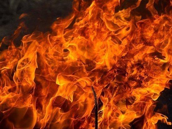 В Маркова горела свалка автошин