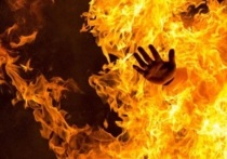 В калмыцкой столице сгорела женщина