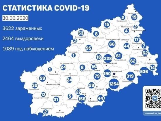 В 20-и районах Тверской области выявили новые случаи заражения коронавирусом