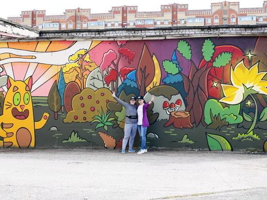 Два новых ярких стрит-арта появились в Йошкар-Оле