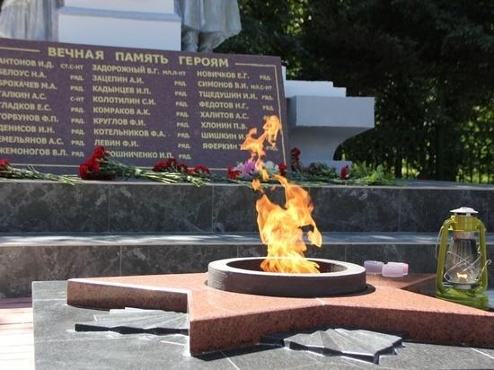 Тульские единороссы помогли в реконструкции Вечного огня в Советске