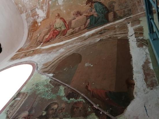 Фрески, найденные в одном из соборов Серпухова, исследуют учёные