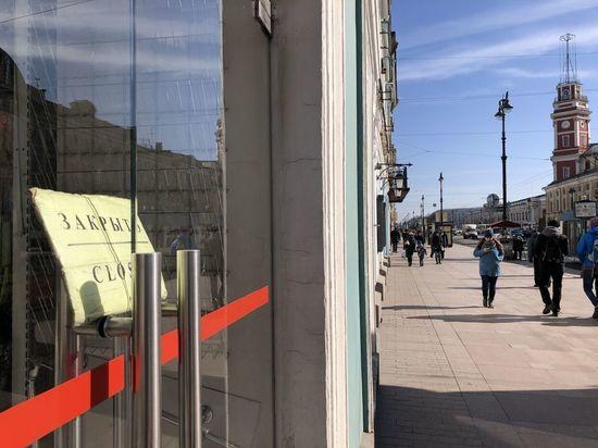За три месяца на 10 торговых улицах Петербурга закрылись 120 магазинов и кафе