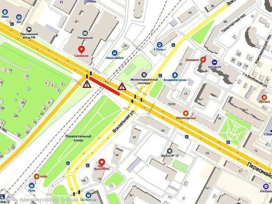 В Рязани снова перекроют проезд под путепроводом на Московском шоссе