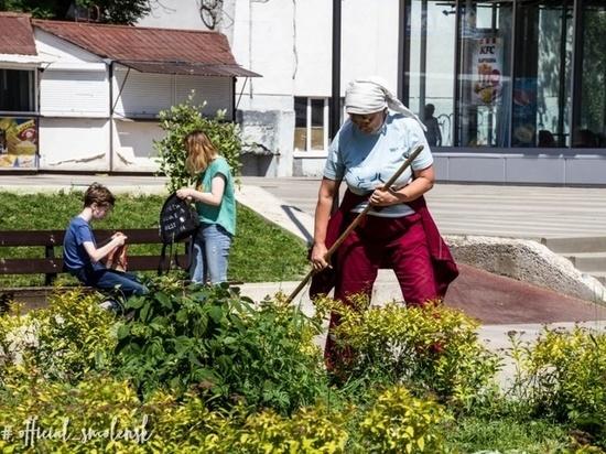 Погода в этом году благоприятствует сорнякам на газонах Смоленска