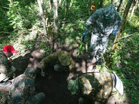 Под Тулой поисковики обнаружили двух бойцов РККА
