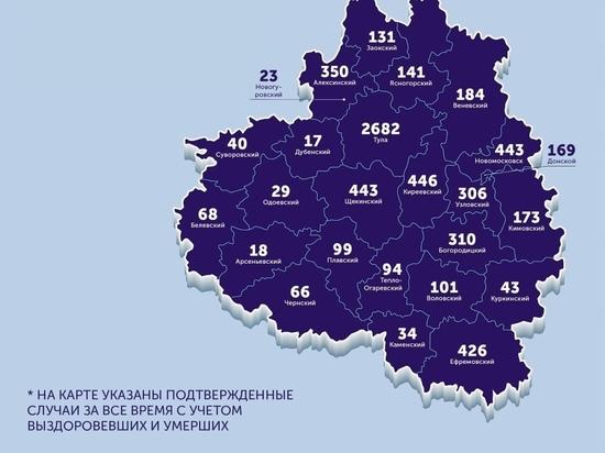 Коронавирус в Тульской области: опубликована обновленная карта распространения