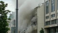 Тверскую улицу перекрыли из-за крупного пожара: видео