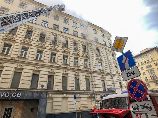 Сгоревший дом на Тверской оказался с нехорошей историей