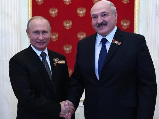 Путин поздравил Лукашенко с Днем независимости Белоруссии