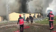 В Турции взлетела на воздух фабрика фейерверков: кадры последствий