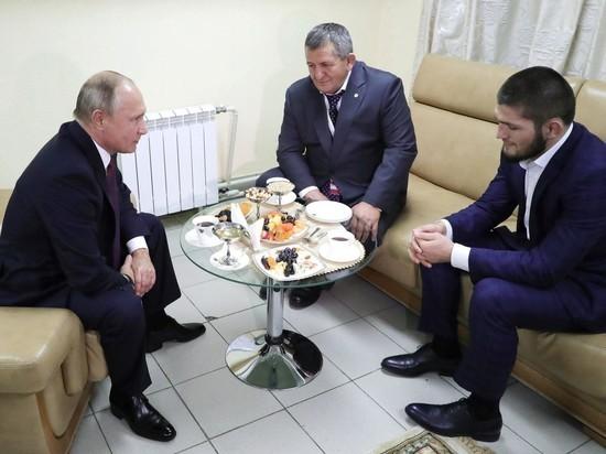 Путин позвонил Нурмагомедову после смерти его отца