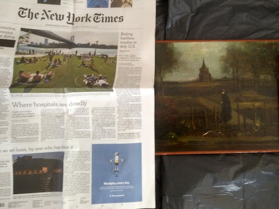 След похищенной картины Ван Гога нашли в мафиозных кругах