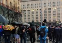 Акция в поддержку журналистки Светланы Прокопьевой прошла в пятницу вечером у здания ФСБ на Лубянке