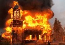 В селе Зоркальцево от удара молнии сгорел храм, которому было почти 150 лет